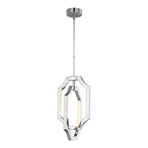 Polished Nickel Small Pendant - 3W LED 250 LM (LED colour temperature: 2700K)