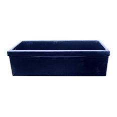 Whitehaus WHQ530-BLUE Single Bowl Fireclay 30'' Farmhouse Kitchen Sink In Blue