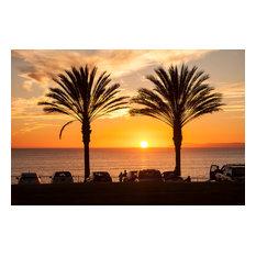 "Dana Strand Sunset, Aluminum, 18""x12"""