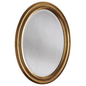 Beaded Oval Wall Mirror, 66x86 cm