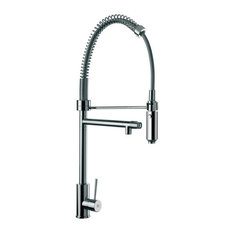 Sink Mixer With Round Body, Double Water Outlet and Hand Spray