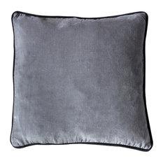 Eterno Velvet Scatter Cushion, Grey