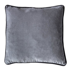 Gallery Direct - Eterno Velvet Scatter Cushion, Grey - Scatter Cushions
