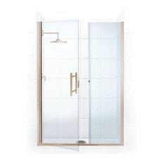 "Illusion Frameless, Hinge Door and Panel, Brushed Nickel, 44""-45""x70"""