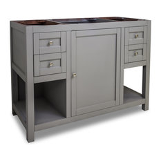 "Astoria Modern Jeffrey Alexander 48"" Vanity, Gray, No Top"