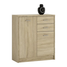 2-Door 2-Drawer Cupboard, Sonama Oak