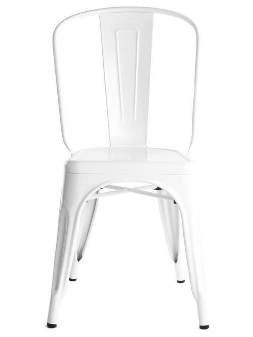 Stol A, Vit/Blank - Spisebordsstole