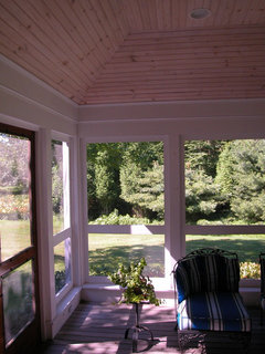 Screened Porch Traditional Porch Portland Maine By