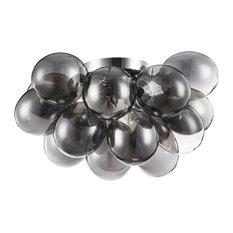Balbo Ball Semi Flush Ceiling Light, Black
