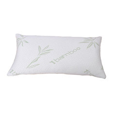 Shredded Memory Foam Pillow With Bamboo Shell, White, Queen
