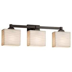 Justice Design Group PNA-8433-55-WAVE-LED3-2100 Porcelina Bathroom Fixture Vanit