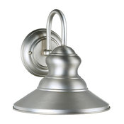 Signature 1 Light Outdoor Wall Light in Brushed Nickel