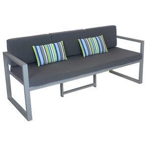 Outdoor 3-Seat Munich Sofa, Silver