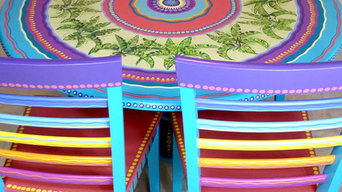 Custom painted table and chairs