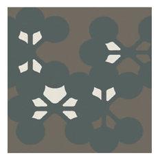 Azulej Flores, Black, Box of 24 Tiles