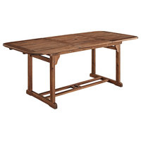 """Delacora WE-BDWTEX Canberra 35"""" Long Wood Outdoor Dining Table"""