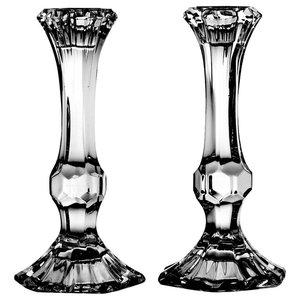 Decorative Lead Crystal Candlesticks, Set of 2