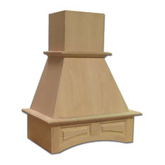 Castlewood Arched Valance Chimney Hood - Maple, 36""