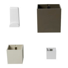 Cube Magnetic Organisers and Coat Hook, 4-Piece Set, Beige