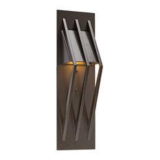 "Dark Sky Bridge LED Sconce 18"" H, Statuary Bronze"