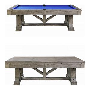 Cross Creek Slate Pool Table w/ Dining Top, 7ft Pool Table With Dining Top