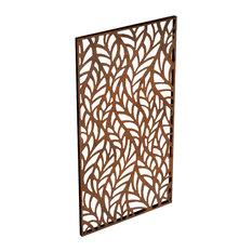 Veradek - Alta Corten Steel Decorative Screen Panel, Flowleaf - Home Fencing and Gates