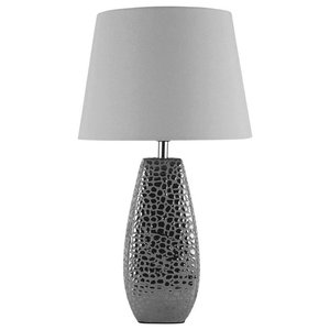 Croc Large Table Lamp , Chrome, Small