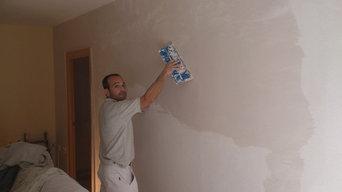 Enlucido de paredes y pintado