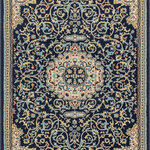 """Well Woven - Alexa Navy Blue Modern Medallion Area Rug Updated Traditional Persian Style, 7'1 - Alexa is a classic Persian medallion pattern woven in modern, contemporary colors of navy and light blue, red, and ivory. The dense 0.4"""" pile is stain resistant, easy to clean, and doesn't shed or fade over time. A jute backing is safe for wood floors and all four sides of the rug are serged for improved durability."""