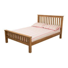 Cotswold Solid Oak Double Bed With 26 cm Supreme Memory Foam Mattress, Double