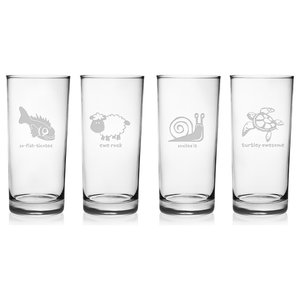 234d33a10ae Home Essentials Red Series 17 Oz. Bubble-bottomed Highball Glasses ...