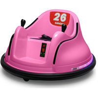 Race #00-99 6V Kids Toy Electric Ride On Bumper Car ASTM-certified, Pink