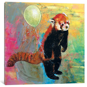 Red Panda Balloon By Michael Creese Canvas Print Contemporary Prints And Posters By Icanvas