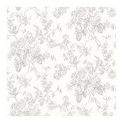 Annie Gray Floral Wallpaper Swatch