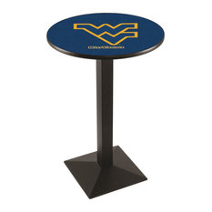 L217 - 42-inch Black Wrinkle West Virginia Pub Table By Holland Bar Stool Co.