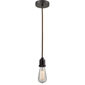 Innovations Bare Bulb 1 Light Mini Pendant Oiled Rubbed Bronze Industrial Pendant Lighting By Luna Warehouse Houzz