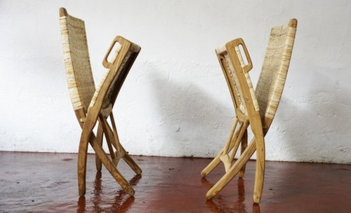 Teak And Cane Easy Chair   Living Room Furniture