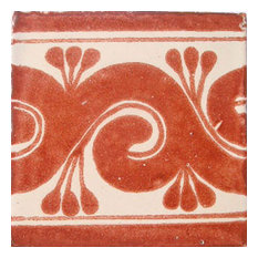 "4""x4"" Mexican Ceramic Handmade Tile #C060"
