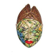 Handmade Flower Man of Bali Wood jewelry box - Indonesia