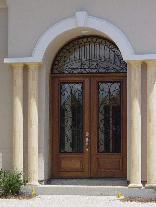 Wood And Wrought Iron Doors