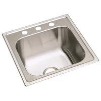 """Elkay Dayton Stainless Steel 1 Hole 20""""x20"""" Single Bowl Drop-In Laundry Sink"""