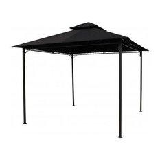 International Caravan Square Vented Canopy Gazebo, Black