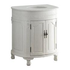 32-inch Antique-Style White Versailles Bathroom Sink Vanity Cabinet Cf-2869W-Aw