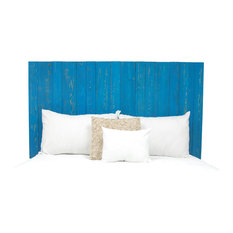 Handcrafted Headboard, Leaner Style, Teal, Full