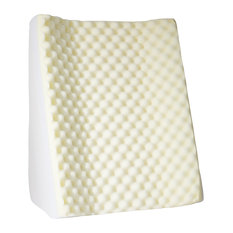 Bluestone Dual Position Wedge With White Terry Cloth Zippered Cover