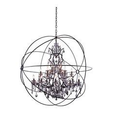 Elegant Lighting Geneva 25-Light Crystal Chandelier In Dark Bronze