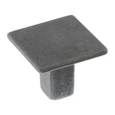 Antique Metal Square Drawer Knobs, Set of 5, Medium