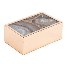 Zuo Decor Steel Box, White