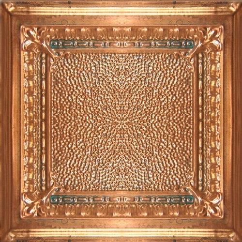 solid aged copper ceiling tile 2ft x 2ft ceiling tile