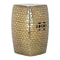 Safavieh Jasmine Garden Stool, Plated Gold